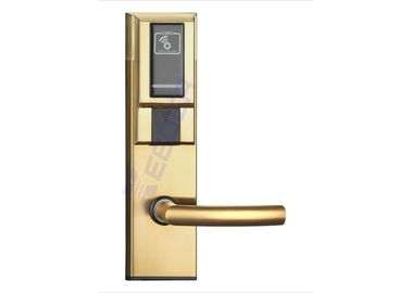 Golden Electronic Key Card Door Locks Mifare 1K S50 Card Required